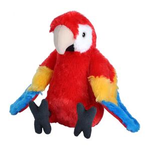 Picture of Papagal Macaw Stacojiu - Jucarie Plus Wild Republic 20 cm